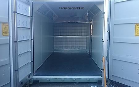 lackierkabine container lackieranlagen neu kaufen farbnebelabsaugung preise. Black Bedroom Furniture Sets. Home Design Ideas